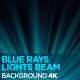 Blue Rays Lights Beam 4K - VideoHive Item for Sale