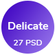 Delicate - Multipurpose Creative Agency PSD Template - ThemeForest Item for Sale