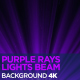 Purple Rays Lights Beam 4K - VideoHive Item for Sale