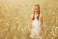 young girl in the yellow field - PhotoDune Item for Sale
