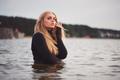 beautiful blonde girl in water - PhotoDune Item for Sale