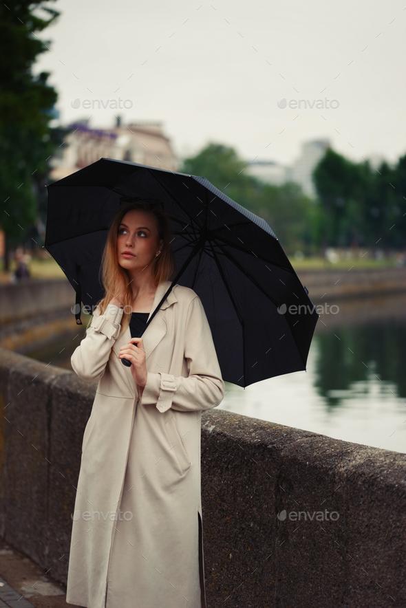 1ca7092add07e beautiful blonde girl with umbrella Stock Photo by ababaka   PhotoDune