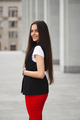 portrait of beautiful brunette with long hair - PhotoDune Item for Sale