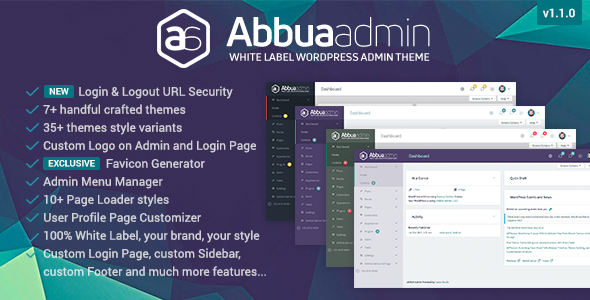 ABBUA Admin WordPress Theme            Nulled
