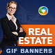 Real Estate Agent Animated GIF Banner Set - GraphicRiver Item for Sale