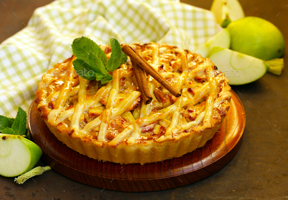 Traditional Apple Pie  - Stock Photo - Images