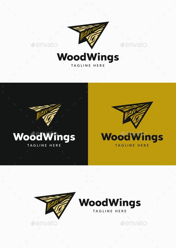 Wood Wings - Objects Logo Templates