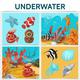 Cartoon Underwater Life Square Concept - GraphicRiver Item for Sale