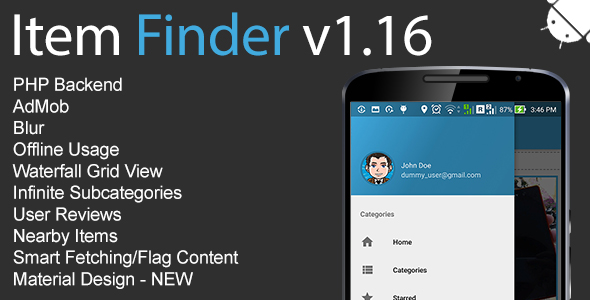 Item Finder MarketPlace Full Android Application v1.16 - CodeCanyon Item for Sale
