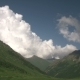 Clouds Moving Over Highland Forest. Foggy Morning Landscape at Mountains. - VideoHive Item for Sale