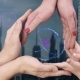 Men's, Women's and Children's Hands Show a Hologram 3D Heart - VideoHive Item for Sale