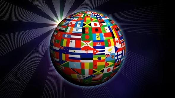 World Globe Flags By Frender