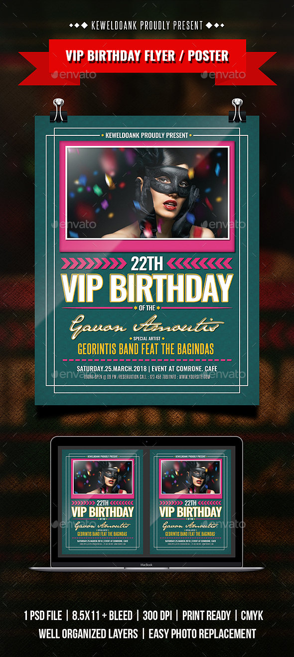 Vip Birthday Flyer / Poster - Clubs & Parties Events