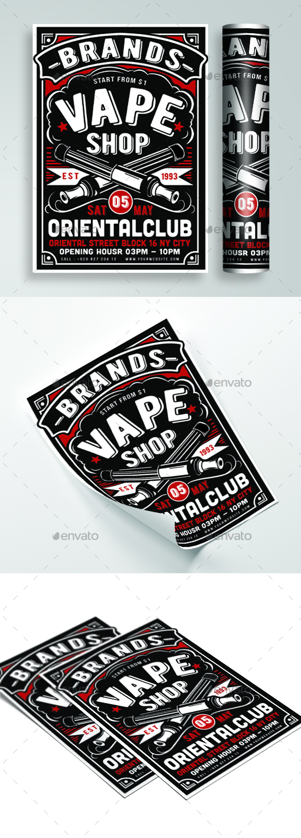 Vape Shop Flyer - Events Flyers