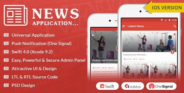 iOS News App - Swift4 - CodeCanyon Item for Sale