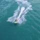Aerial View of Jet Ski Riding in Sea - VideoHive Item for Sale
