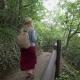 Young Female Traveler Walking at Igidae Coastal Walk in Busan City, South Korea - VideoHive Item for Sale