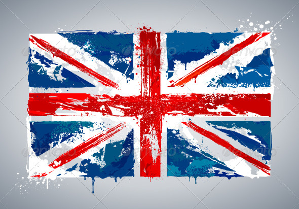Grunge UK national flag - Travel Conceptual