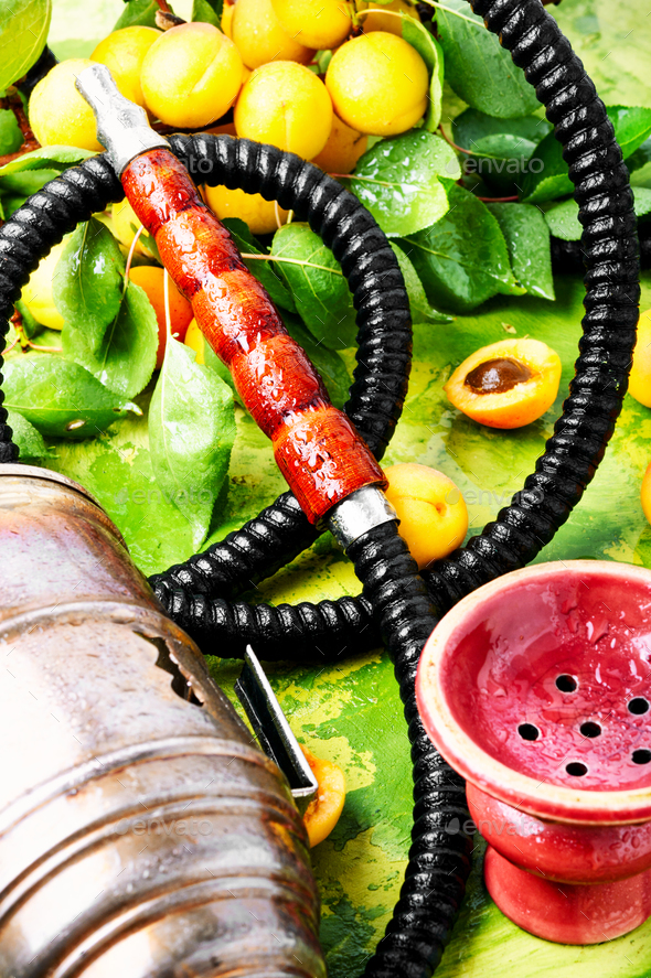 Eastern shisha with apricot - Stock Photo - Images