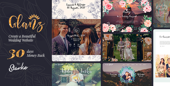 Glanz - Wedding Theme - Wedding WordPress
