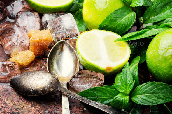 Summer refreshing cocktail mojito - Stock Photo - Images