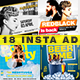 Instagram Night Club Banner Ads Bundle - GraphicRiver Item for Sale