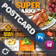 Supermarket Promotion Postcard Templates