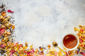 Cup of tea and dried rose petal - PhotoDune Item for Sale