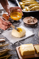 Smearing raw buns - PhotoDune Item for Sale