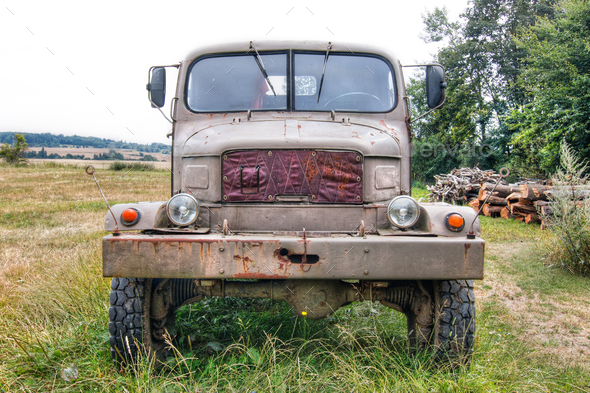 Abandoned terrain truck Praga V3S - Stock Photo - Images
