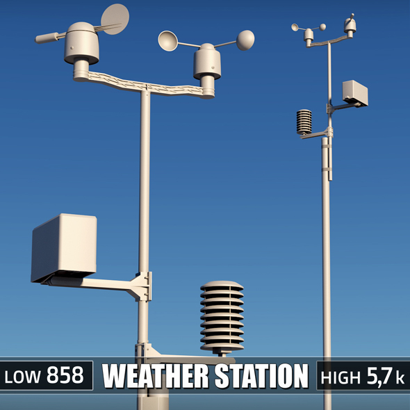 Weather meteo station - 3DOcean Item for Sale