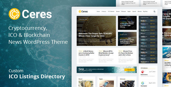 Ceres - Cryptocurrency & Blockchain News WordPress Theme - News / Editorial Blog / Magazine