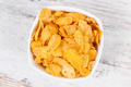 Cornflakes in glass bowl as source carbohydrates and dietary fiber, nutritious eating concept - PhotoDune Item for Sale