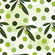 seamless pattern with green olive tree and polka dots - 3DOcean Item for Sale