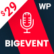 BigEvent- Conference Event WordPress Theme - ThemeForest Item for Sale