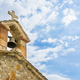Old stone orthodox church and bell on blue sky, in Greece. - PhotoDune Item for Sale