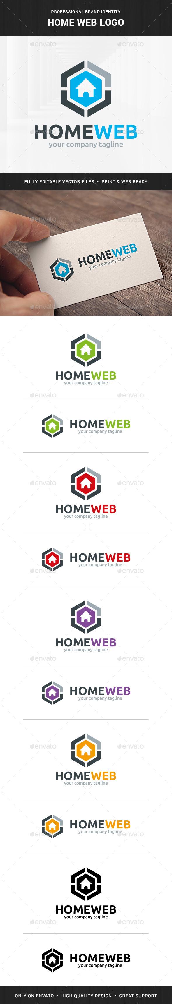 Home Web Logo Template - Buildings Logo Templates