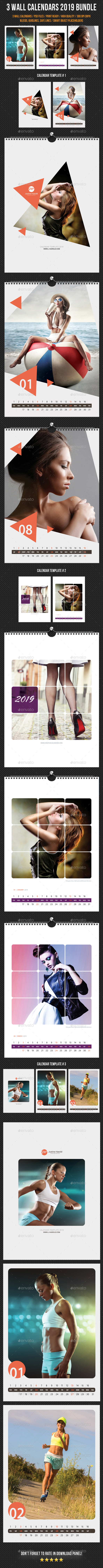 Creative Wall Calendars 2019 Bundle 5 - Calendars Stationery