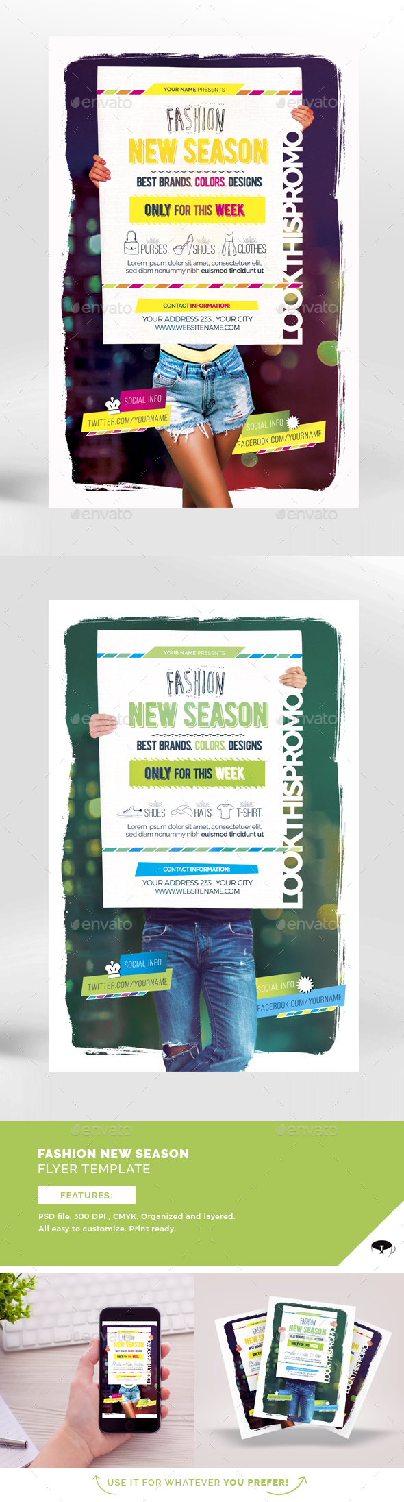 Fashion New Season Flyer Template - Events Flyers
