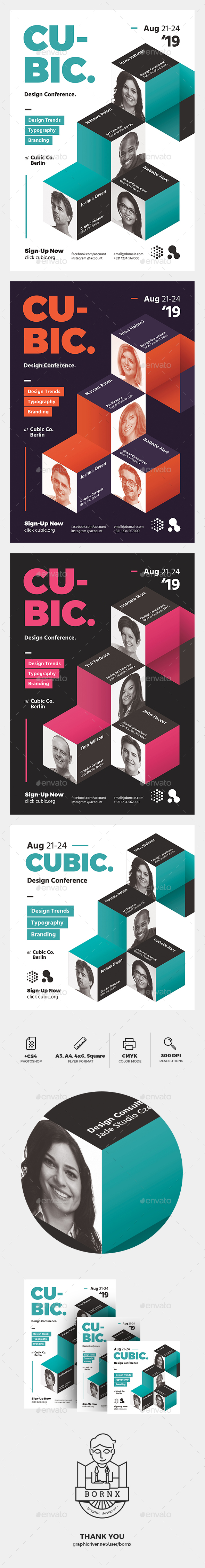 Cubic Modern Flyer - Events Flyers