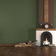 Green room with fireplace - PhotoDune Item for Sale