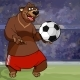 Cartoon Bear in Shorts and with a Soccer Ball - GraphicRiver Item for Sale