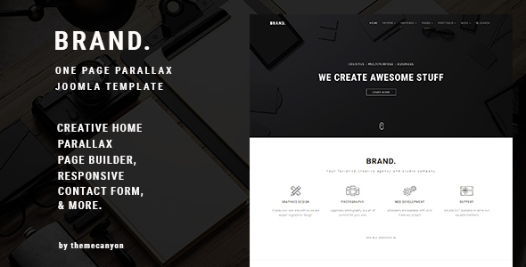Image of BRAND, - Creative One Page Parallax Joomla Template