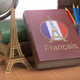 Learn and studiyng French concept. Book with  French flag and Ei - PhotoDune Item for Sale