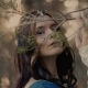 Portrait of a Mysterious Actress with Elven Ears, She Touches a Branch - VideoHive Item for Sale