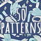 Hand Drawn Seamless Watercolor Patterns With Spots