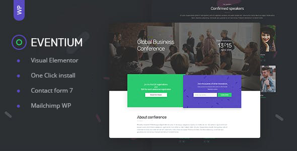 Eventium - Responsive Event WordPress Theme - Events Entertainment