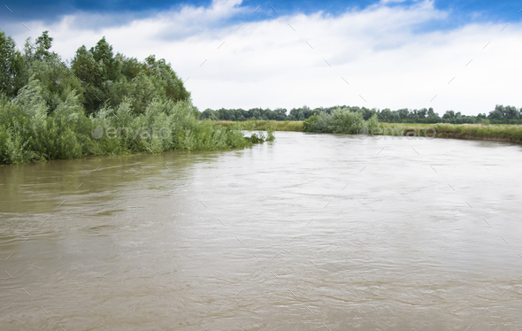 floods river - Stock Photo - Images