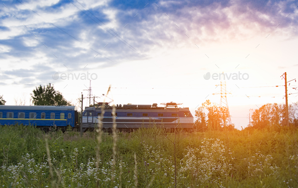 train travelling - Stock Photo - Images