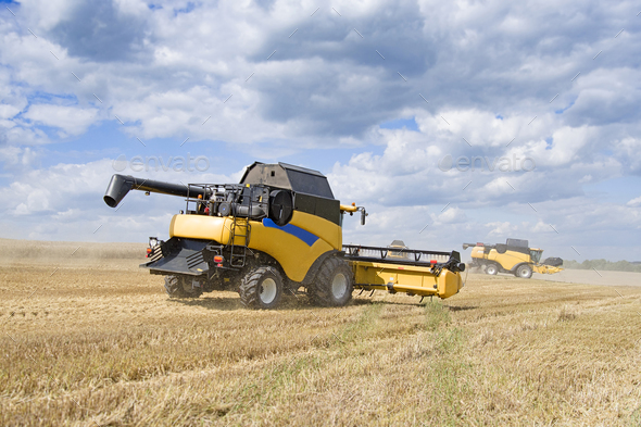 harvester machine - Stock Photo - Images